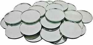 70 Pcs Decorative Small Mirror Craft Round Shape Glass Home Décor Mirror MR16