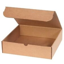 KRAFT CORRUGATED MAILERS Letter-Sized Saver Boxes, Short, 50 Boxes