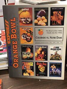 1990 COLORADO BUFFALOES Vs NOTRE DAME ORANGE BOWL COLLEGE FOOTBALL PROGRAM