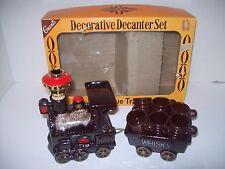 Vintage Antique Train Decanter Set~ W T Grant Original Box ~ Mid Century ~ EXC