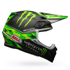 Bell MX-9 Monster Pro Circuit Replica Camo Large MX Helmet Motocross Kawasaki