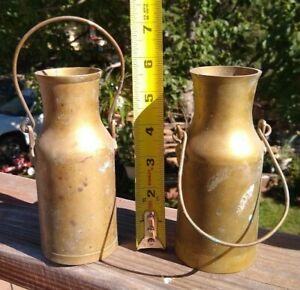 2  Mini  Copper Brass   Milk Cans