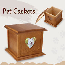 Pet  Solid Wooden Cat Dog Burial Personal Cremation Ashes Urn Ash   !!