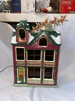 2002 The Night Before Christmas House Gold Label Collection Mr Christmas EUC IOB