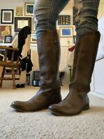 FRYE Melissa Button Back Slate Tall Womens Leather Boots Size 9