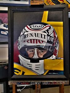 Nigel Mansell 61 x 48 cms original oil painting by Colin Carter