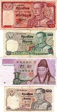 3 billets de Thaïlande 1 de 100-20-10 baht & 1 billet de 1000 won de korê du sud