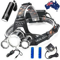 90000LM LED Headlamp Rechargeable Headlight CREE XM-L T6 Head Torch lamp camp