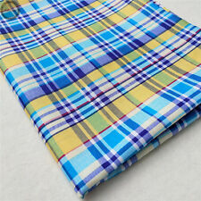 Plaid Checks Lattice Fabric Printed Cotton Like Shirts Quilting Sewing Patchwork