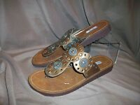 *USED* *WORN* METRO 7 WOMENS SIZE 8.5 SANDALS COPPER BROWN