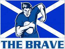 PAINTING SPORT SCOTLAND RUGBY FOOTBALL FLAG BRAVE POSTER PRINT BMP11204