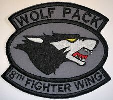 USAF 8th Fighter Wing Wolf Pack Patch Hook & Sew Repro New A507