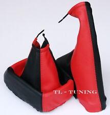 Schaltsack + Handbremssack passend für OPEL CALIBRA Bj. 90-97 Leder Rot-Schwarz