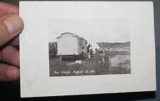PRIVATE PHOTO POSTCARD CARAVAN Llyn Coron, Bodorgan, Isle of Anglesey  WALES l