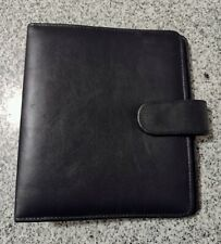 Franklin Planner Classic Binder Black Leather 7 Ring 1 Covey Organizer