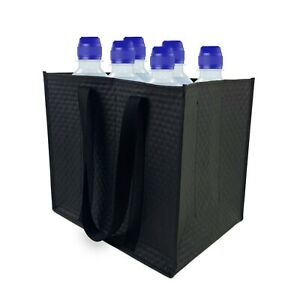Bottle Bag Carrier Compartments for 6, 9 or 12 x Wine Bottles, Jars, and Vials.