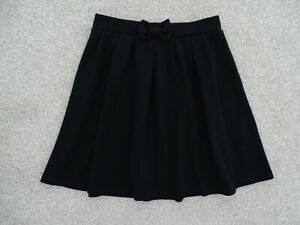 Girl's Black School Skater Skirt from George at Asda Age 7-8 Years