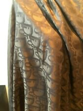 NEW Christian Dior Square Brown Wool Silk Scarf Scarves