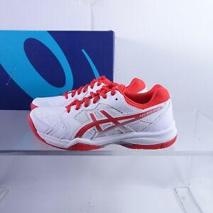 Size 6 Women's ASICS Gel-Dedicate 6 Tennis Shoes 1042A067-107 White/Fiery Red