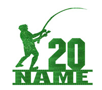 Personalised Fishing Fisherman Cake Topper Decoration Birthday.