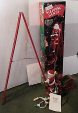 1994 MR CHRISTMAS ANIMATED STEPPING SANTA CLAUS CLIMBING LADDER DECORATION CHINA