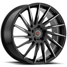 4 Revolution R15 17x75 5x45 40mm Blackmachined Wheels Rims 17 Inch Fits Camry