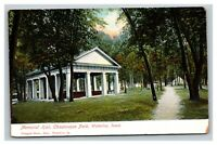 Vintage Early 1900's Divided Back Postcard Memorial Hall Waterloo Iowa UNPOSTED