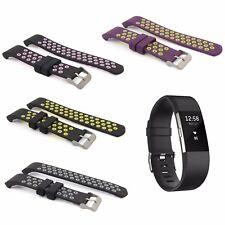 Armband Ersatz für Fitbit Charge 2 Fitness Tracker Watch Silikon Viele Farben