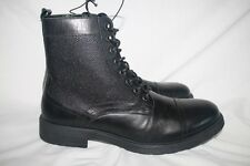 EXPRESS Men's Black Leather Lace-Up Boots Shoes Size 9 New without box! $148.00