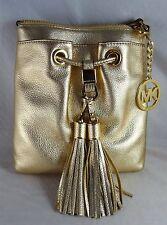 Michael Michael Kors Camden Drawstring Gold Crossbody Bag