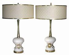 VTG LAMP PAIR REVOLV-A-LITE MID CENTURY MODERN FIBERGLASS SHADE RETRO 50s 60s