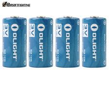 4pcs Olight CR123A 3.0V 1500mAh Lithium Battery Blue for SureFire