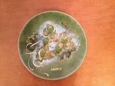 Vintage Mid Century Sascha B Brastoff Copper Enamel Plate w/ Grapes Decoration