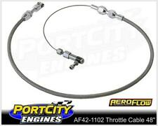 """Aeroflow Universal Stainless Steel Braided Throttle Cable 48"""" long AF42-1102"""