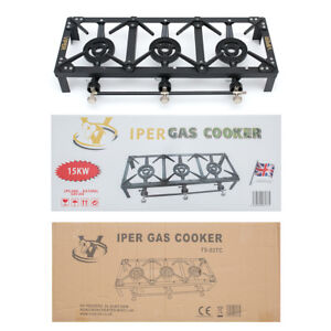 Cast Iron Lpg Burner Triple Gas Boiling Propane Catering Outdoor Camping 15 KW