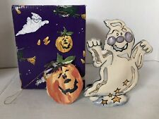 Blue Sky Clayworks Halloween Boo The Ghost Tealight Holder Heather Goldminc Fall