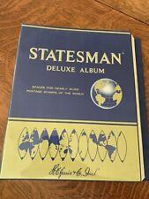 Harris Statesman Deluxe Album with around 90 stamps