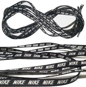 Unisex Shoe Laces Black With Nike Logo