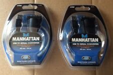 LOT OF 2  Manhattan USB to Serial Converter Cable 18-in Model # 205146 BRAND NEW