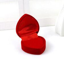 Red Rose Engagement Love Heart Velvet Ring Box Wedding Earring Jewelry Gift Case
