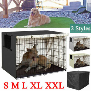 Pet Dog Cage Huge Folding Cover Waterproof Kennel House Crate Cover Case Outdoor