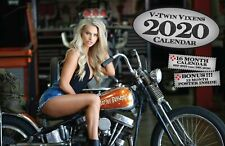 2020 V-TWIN VIXEN DELUXE WALL CALENDAR pin up models motorcycle