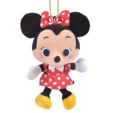 Japan Disney Store Mnnie Mouse Stuffed Toy Plush Keychain Retro Modern Mascot US