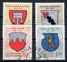 Liechtenstein - 1964 Coats of Arms - Mi. 440-43 VFU