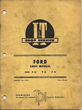 1953 Vintage Tractor Ford Ferguson I and T Shop Services Manual 2N 8N 9N No FO 4
