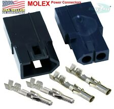 Molex 2 Pin Positive Lock Connector With18 22 Awg 093 Pins Glow Wire Capable