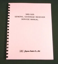 "JRC NRD-525 Service Manual: w/ 11""X17"" Schematics & Protective Covers!"