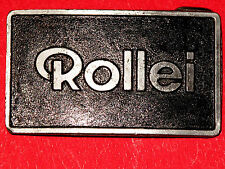 RARE RARE Vintage ROLLEI Camera PEWTER Limited Handmade & Numbered BELT BUCKLE