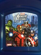 MARVEL AVENGERS TWO SANDWICH CONTAINERS & LIDS SCHOOL LUNCH BOX BRAND NEW