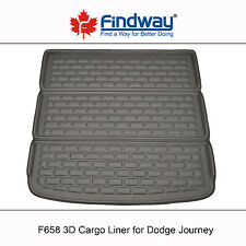 Black All Weather 3D Cargo Liner / Trunk Mat for 2009-2018 Dodge Journey